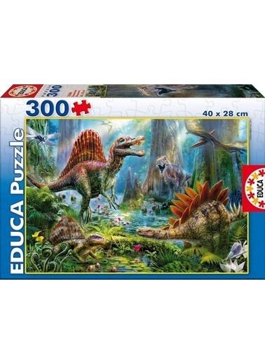 Educa Educa Çocuk Puzzle Karton 300 Dinosours Renkli